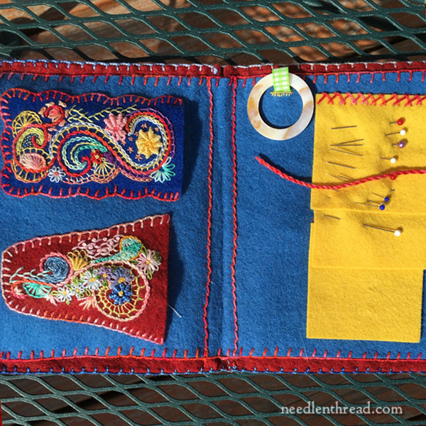 Embroidered Felt Needlebook and Tool Book Revisited