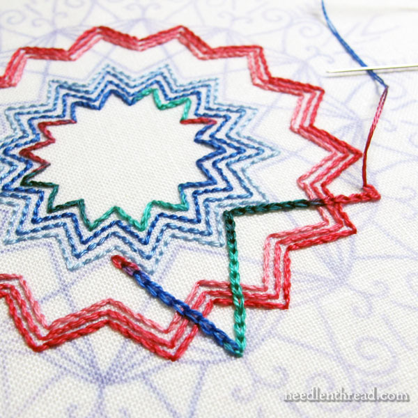 Embroidered Kaleidoscope Design