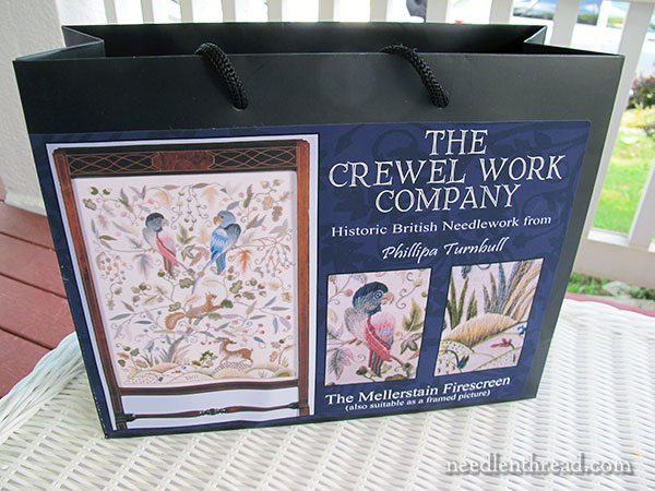 Mellerstain Firescreen Crewel Embroidery Kit from the Crewel Work Company