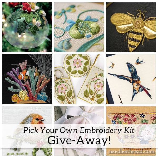 Inspirations Embroidery Kits - A Grand Give-Away!