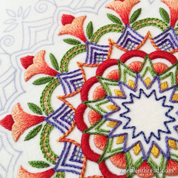Kaleidoscope Embroidery Design in Silk