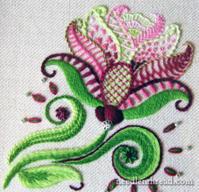 Carol's Rose Crewel Embroidery Kit from Jessica Grimm
