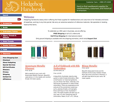 Hedgehog Handworks Shipping Sale