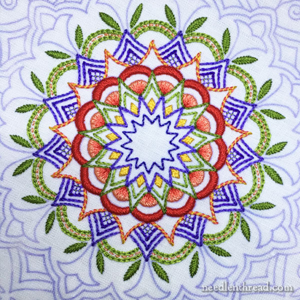 Embroidered Kaleidoscope - Finished