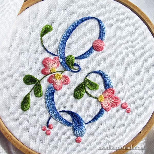 How to Embroider a Monogram: E