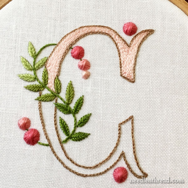 A Pretty Monogram with Simple Stitches