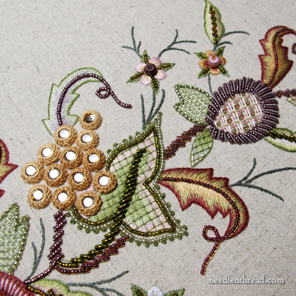 Late Harvest: Hand Embroidery Project - left side finished
