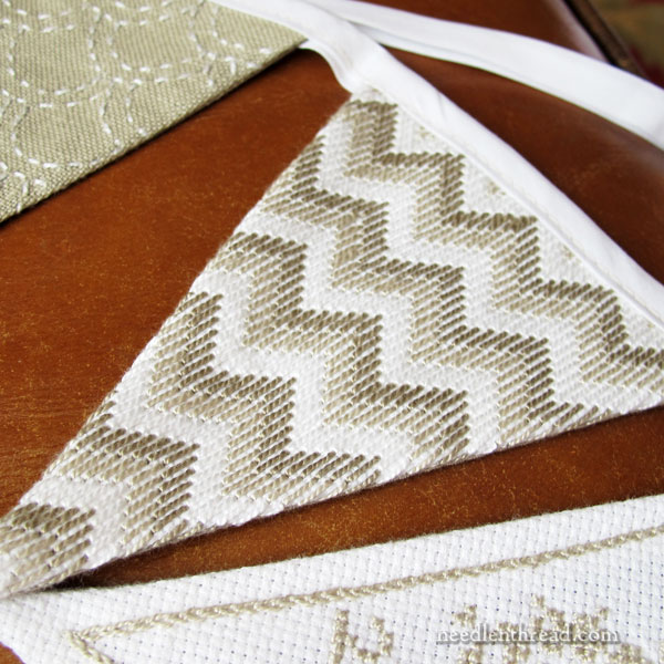Hand Embroidered Bunting - Beadwork