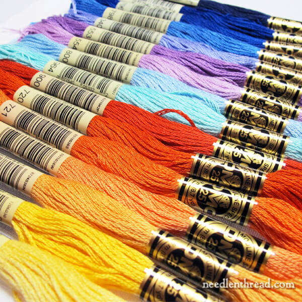 Selecting Embroidery Floss Colors