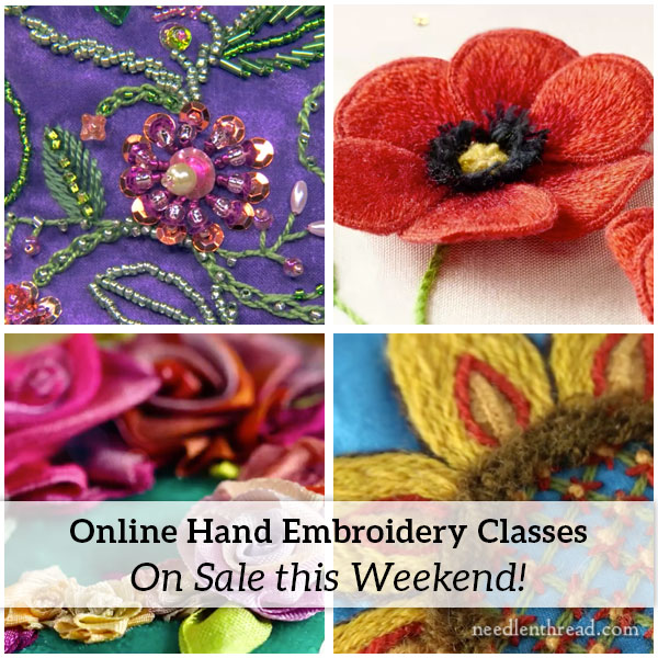 Online Embroidery Classes on sale this weekend