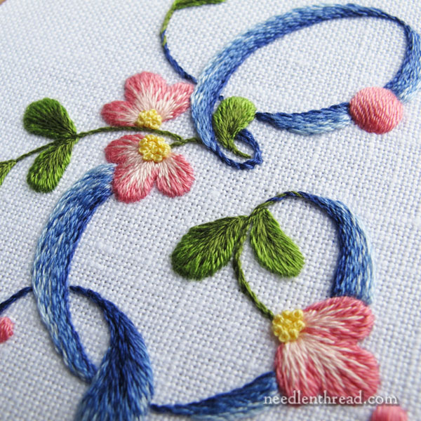 Hand Embroidered E Monogram