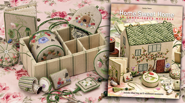 Home Sweet Home Embroidered Workbox