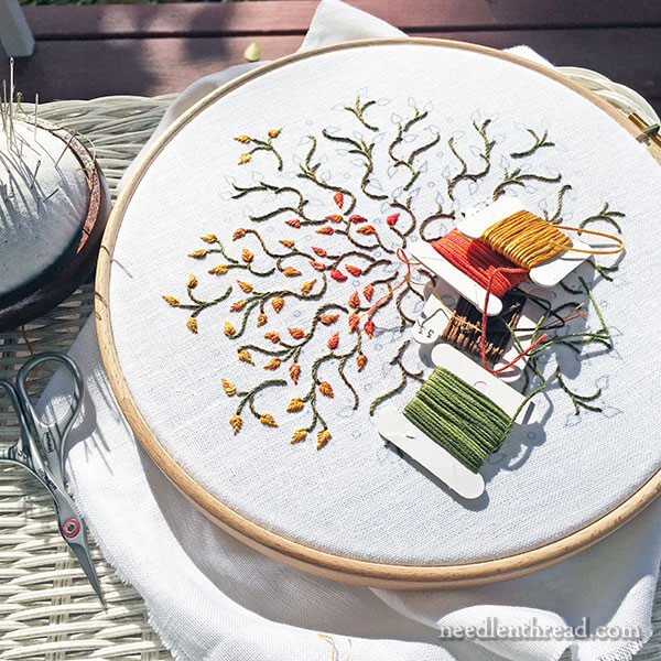 Little Leaves - Autumn Embroidery