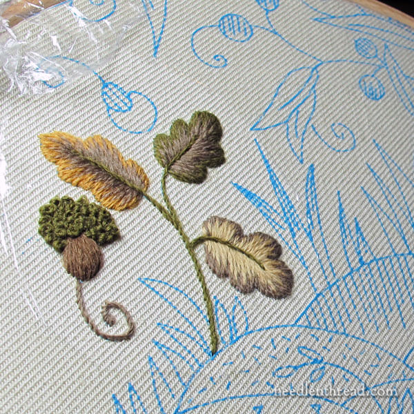 Mellerstain Firescreen - Crewel Embroidery Project