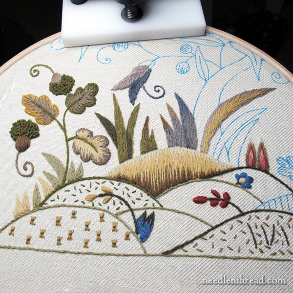 Mellerstain Firescreen Crewel Embroidery