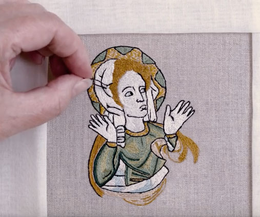 Opus Anglicanum embroidery video