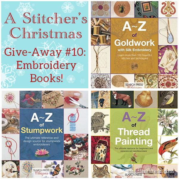 A-Z Embroidery Books from Search Press