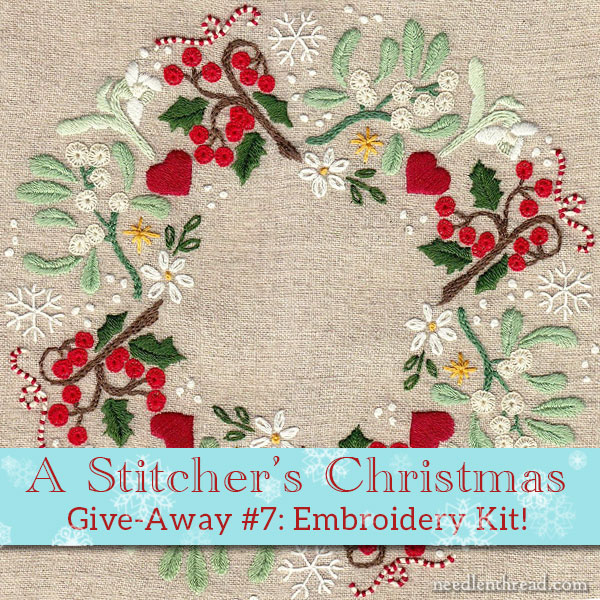 c63ccf4a436e8 A Stitcher's Christmas #7: Christmas Wreath Embroidery Kit ...
