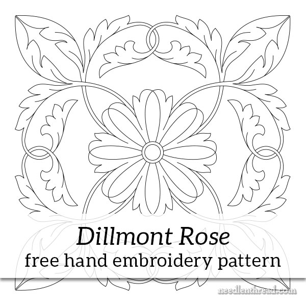 Dillmont Rose Hand Embroidery Pattern