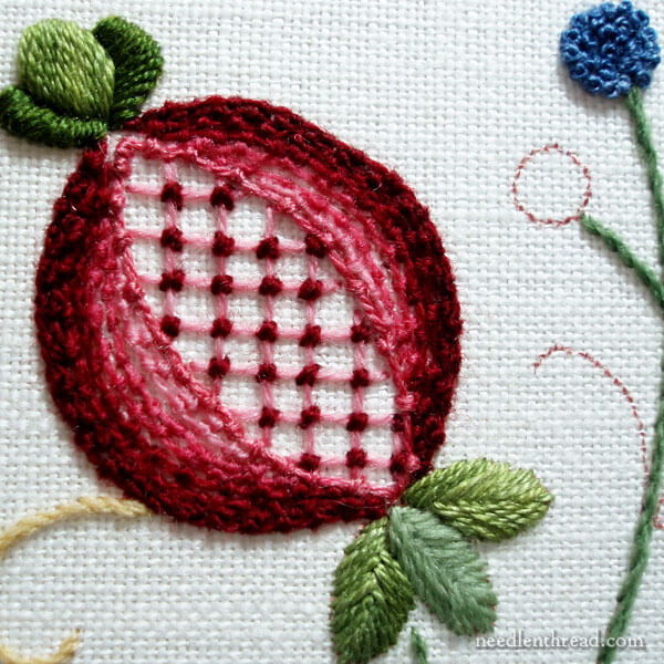 Embroidered Pomegranate