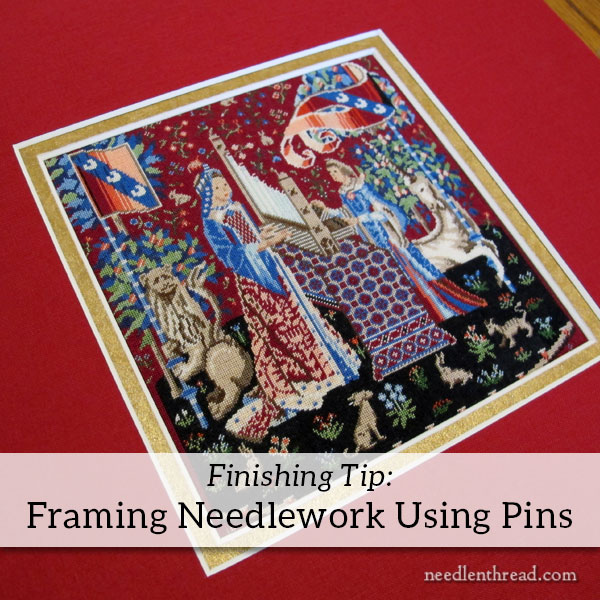 Framing Needlework & Embroidery using Pins