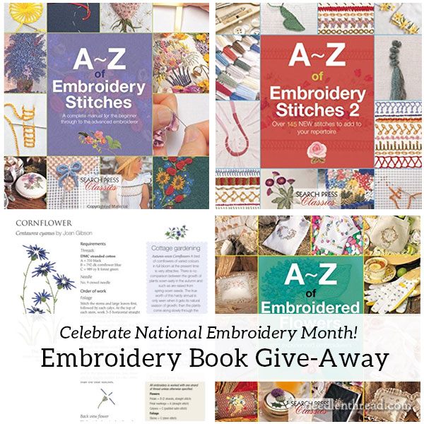 A-Z Embroidery Books give-away