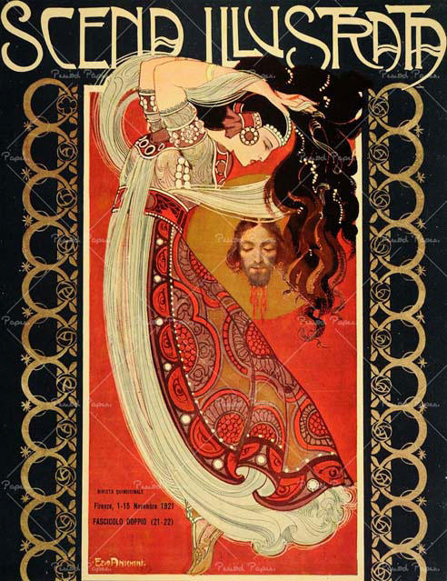 Scena Illustrata cover by Ezio Anichini