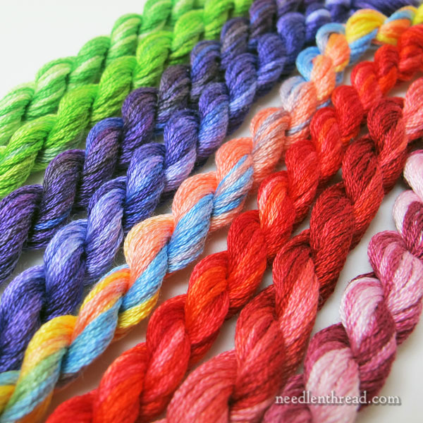 Overdyed Embroidery Floss, Spring Colors