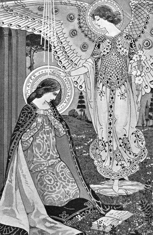 Litany of Loreto illustrations by Ezio Anichini