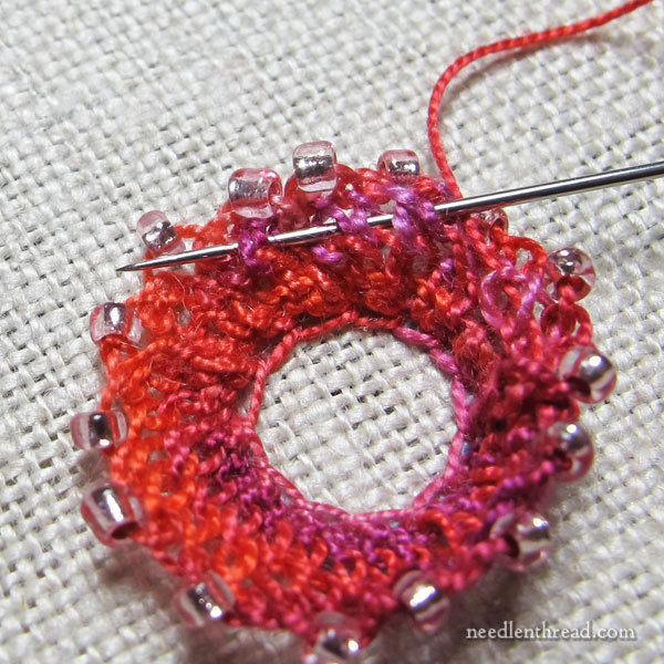 Embroidery Stitch: Beaded Clump!