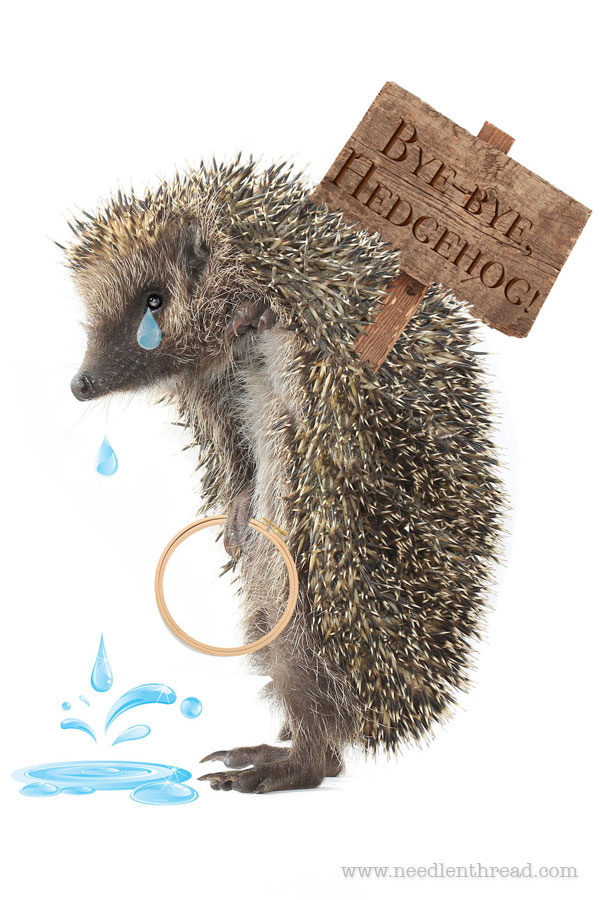 Bye Bye Hedgehog Where To Find Fine Embroidery Supplies