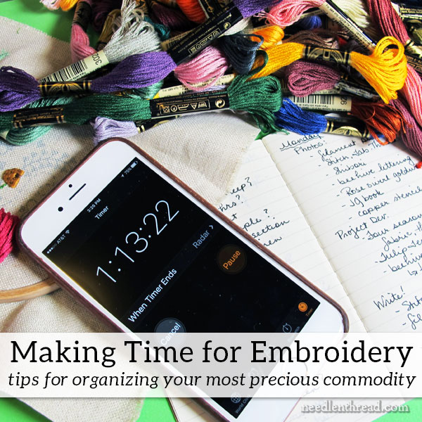 Making Time for Embroidery
