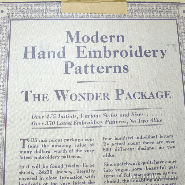 The Wonder Package Vintage Hand Embroidery Patterns
