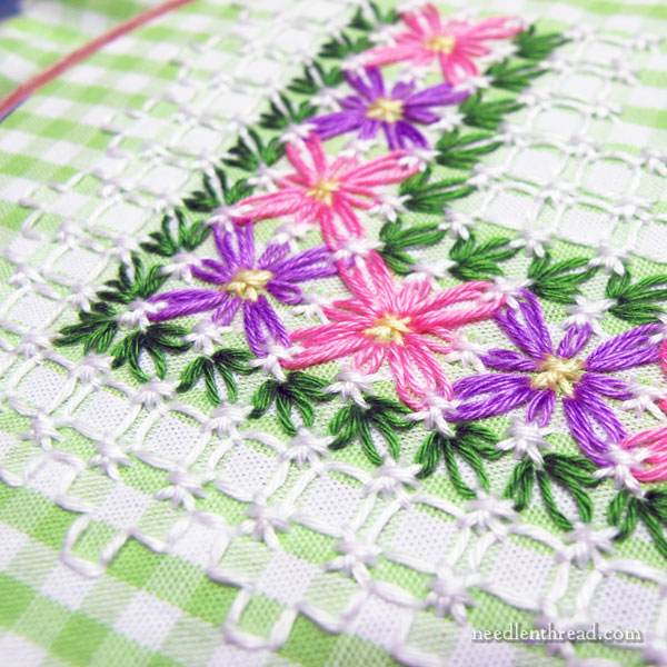 Gingham Embroidery for Spring