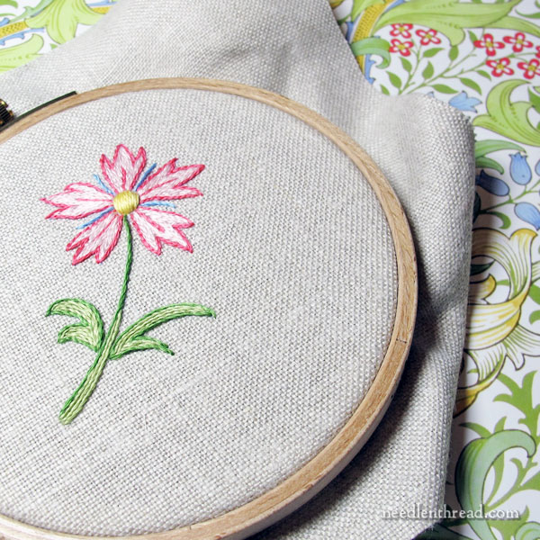 Simple Embroidered Flower