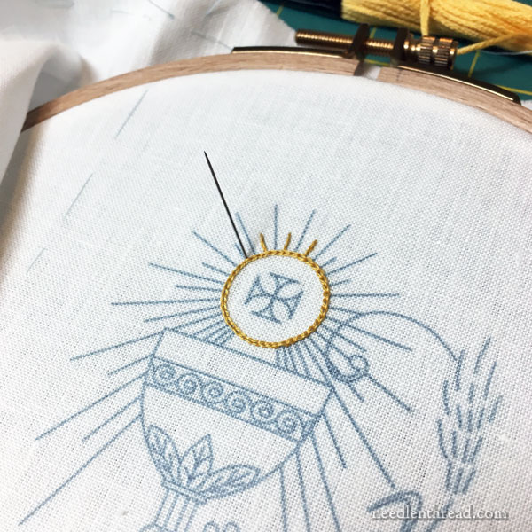 Embroidered prayer book cover for First Communion