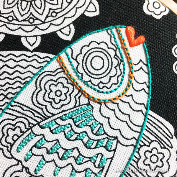 Coloring Book Fabric for Embroidery
