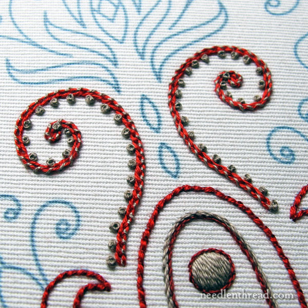 Hand Embroidery on Cotton Twill