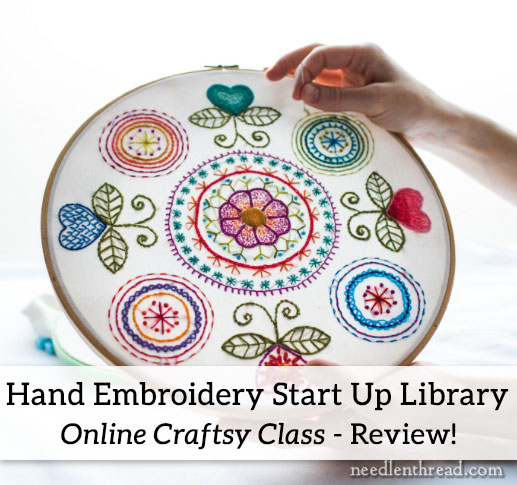 Craftsy Hand Embroidery Start Up Library class review