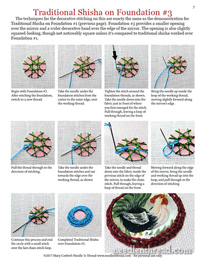 Shisha Variations: Techniques for Embroidery with Mirrors