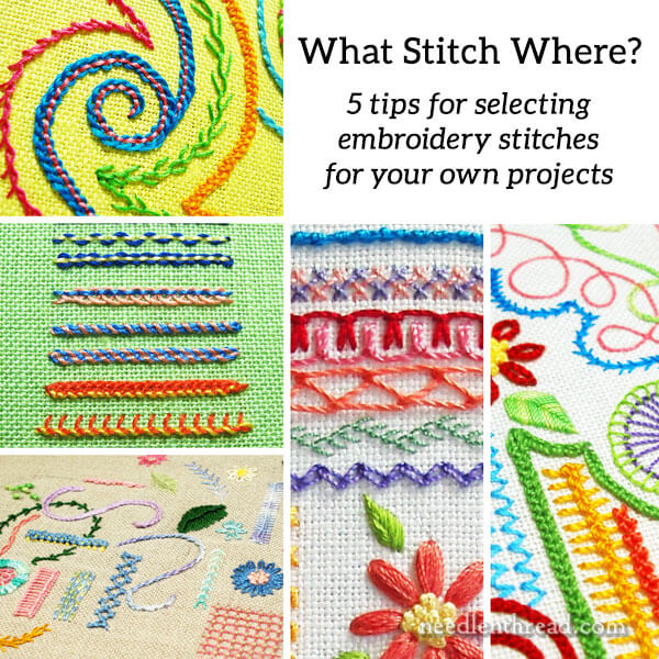 What Stitch Where? 5 Tips for Choosing Embroidery Stitches