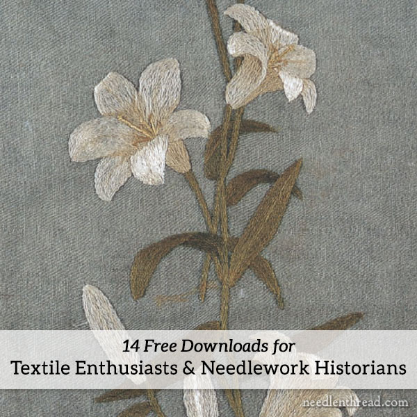 Free Downloads for Embroidery & Needlework Related Books