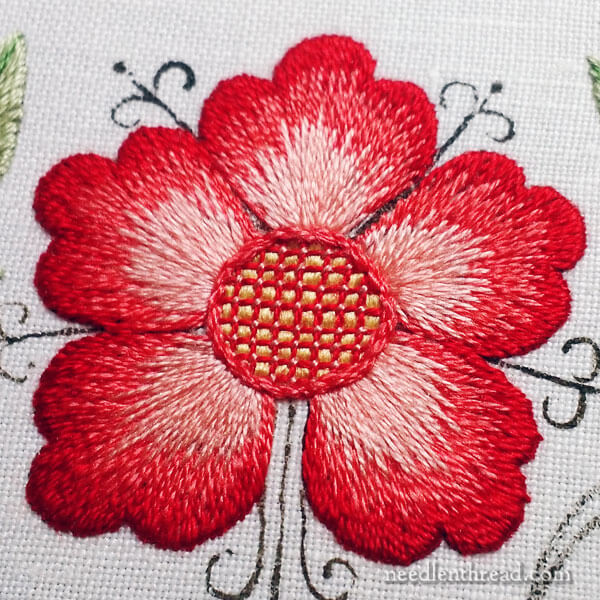 Silk Hand Embroidery Sampler