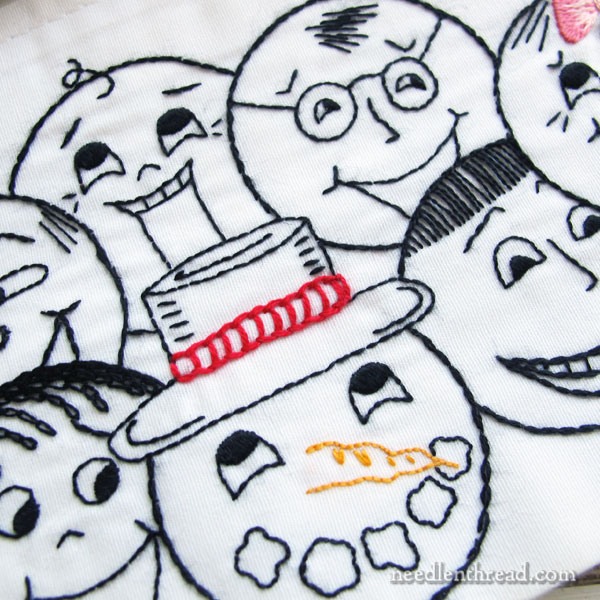 Opposite Faces Pillow Cases - a few good laughs with your embroidery