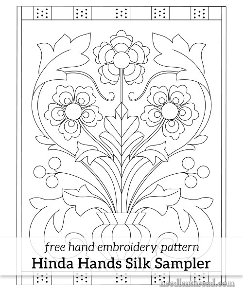 Silk Sampler for Hand Embroidery - Free Pattern