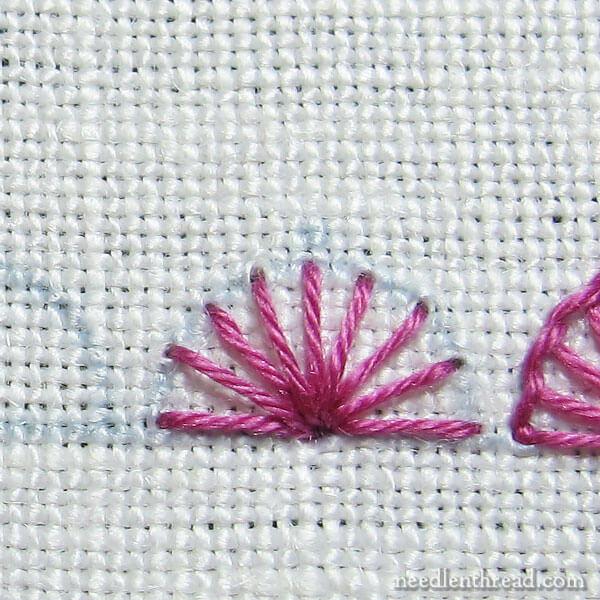Stitch Fun: Embroidery Scallops with Picots