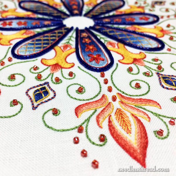 Party in Provence Embroidered Kaleidoscope Design by Mary Corbet on Needle 'n Thread