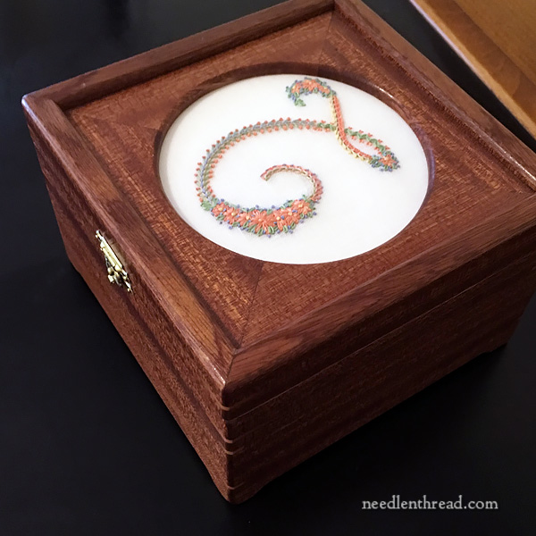 Custom Box for Mounting Embroidery