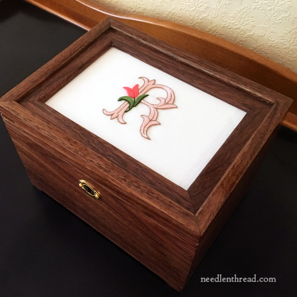 Custom Box for Mounting Embroidery Projects