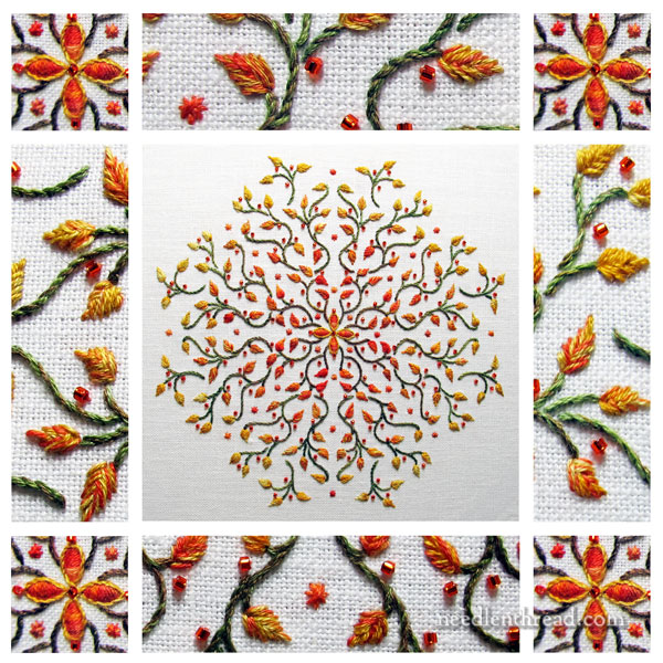 Octoberfest! An Embroidered Kaleidoscope for Fall